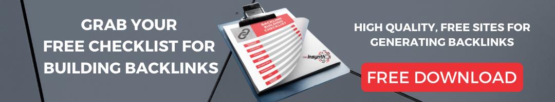 Backlink Checklist CTA