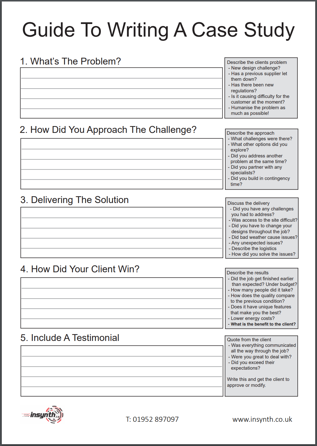 Guide To Writing A Case Study Cheat Sheet