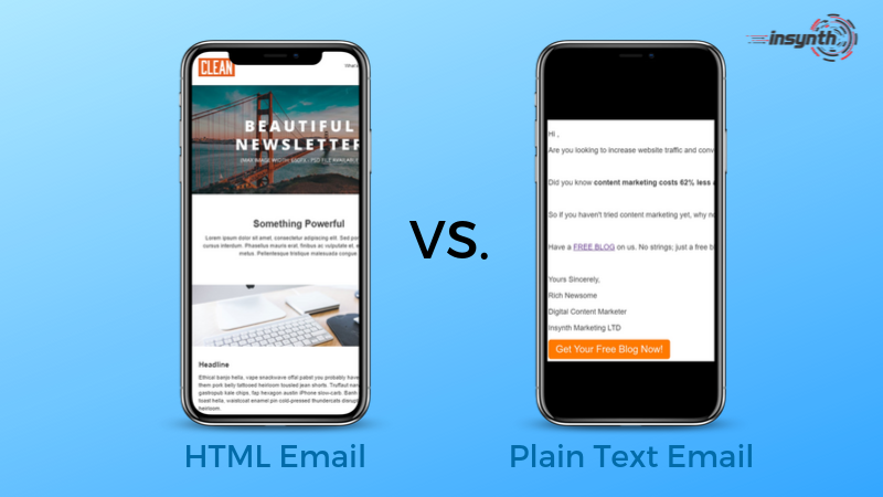 HTML VS Plain Text Emails which is better_