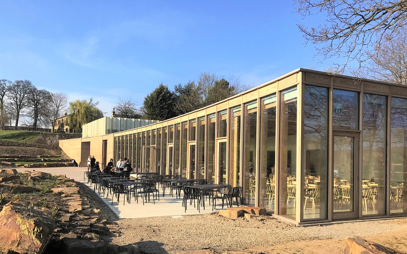 the weston sculpture park seating area