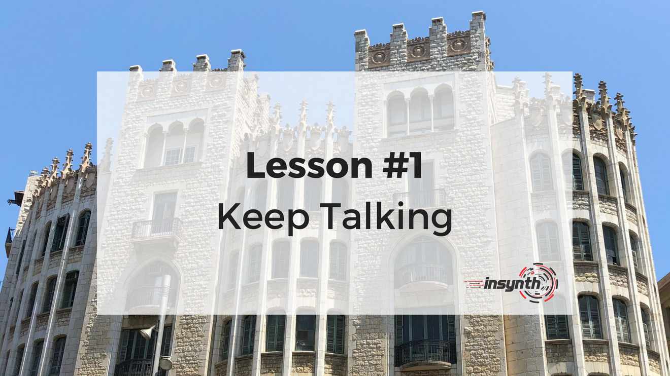 Lesson One - Keep Talking