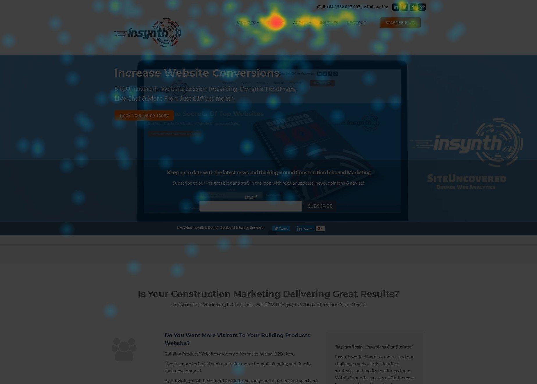 Insynth Construction Marketing Heatmap