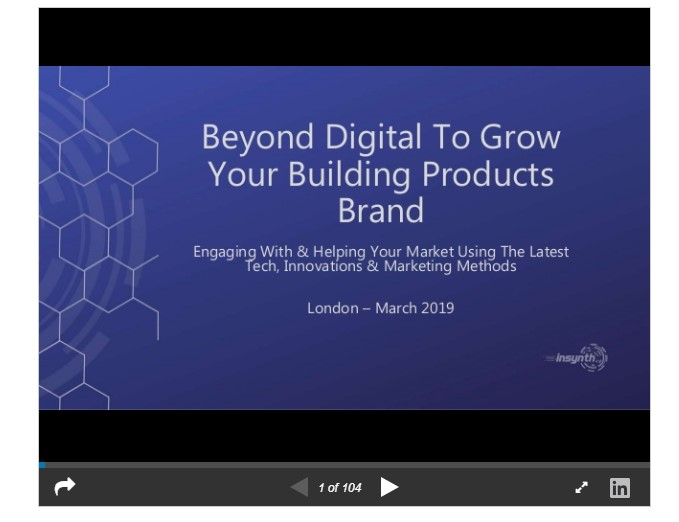 Slideshare presentation - construction marketing growth agency