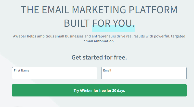 aweber email marketing building product agency