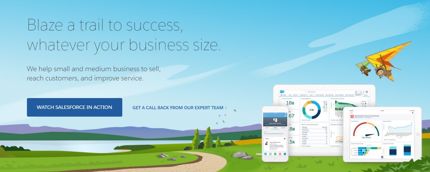 salesforce CRM building products marketing agency