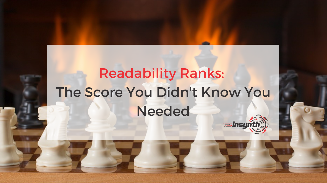 Readability Ranks: The Score You Didn't Know You Needed